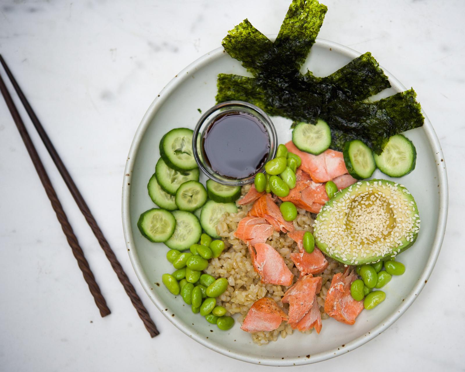 Deconstructed Salmon Sushi Bowl