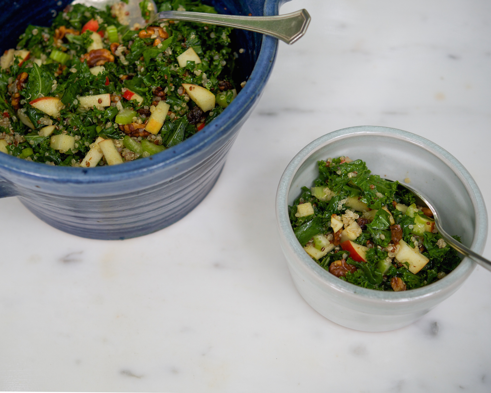 Portland Kale Quinoa Cinnamon Salad