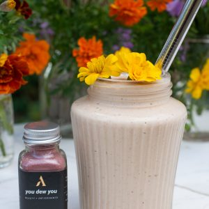 mangoes and cream smoothie with apothekary